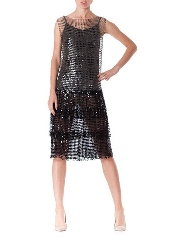 Museum Grade 1920s Net Sequin dress