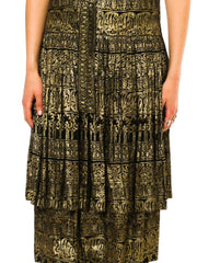 1920s Egyptian And Middle Eastern Gold Lamé Dress