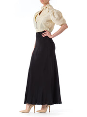 1930s Bias Cut Black Gown with Jacket