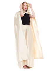 Mademoiselle Ricci Bt Nina Ricci Silk and Velvet Gown with Hooded Cape