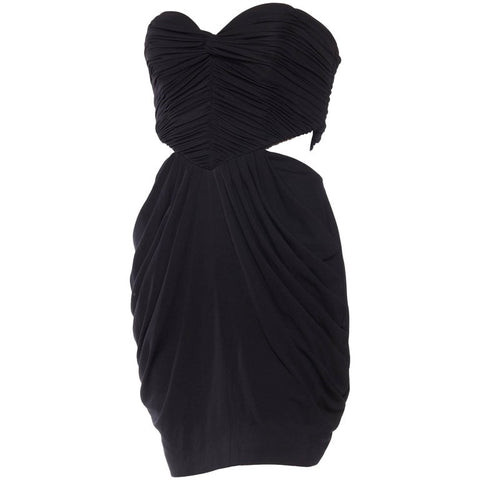 Vicky Tiel Sexy Cut Out Jersey Dress