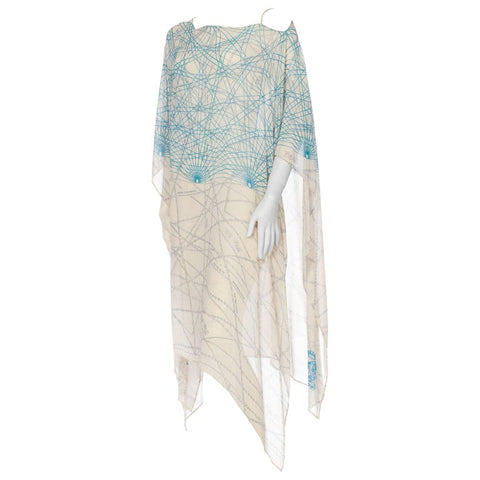 Silk Chiffon Kaftan WIth Chain Detail