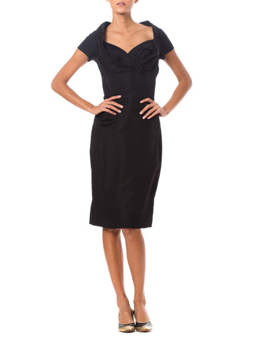 Vintage 1950's Syano Black Dress