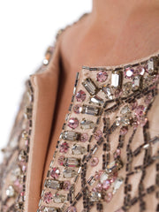 Crystal Encrusted Silk Gown from the 1960s