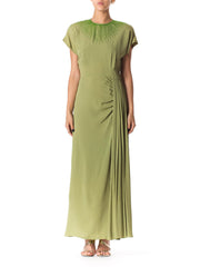 1940s Green Crepe Gown by Du Barry