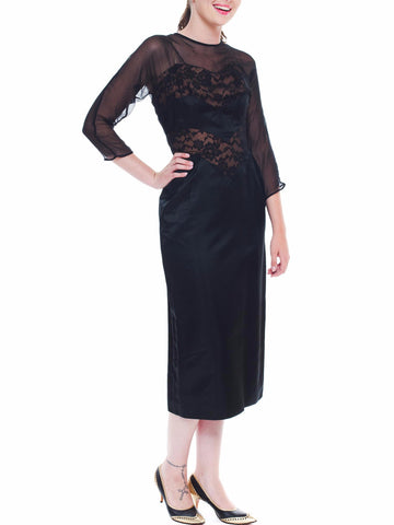 Stunning Don Loper Black Lace Dress