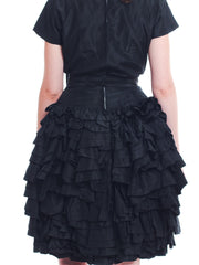 Pretty Paul Whitney Puffy Black Dress