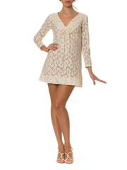 1960s Psychedelic Mod Lace Mini Dress