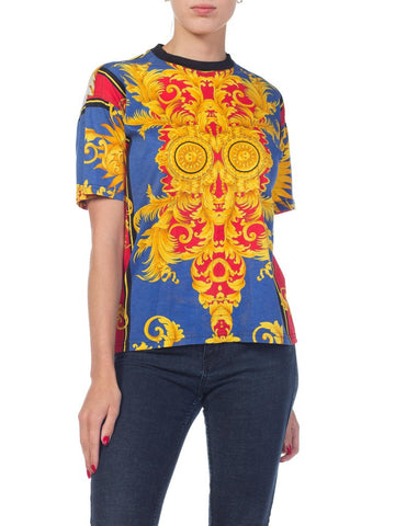 1990S Gianni Versace Jeans Couture Baroque T-Shirt