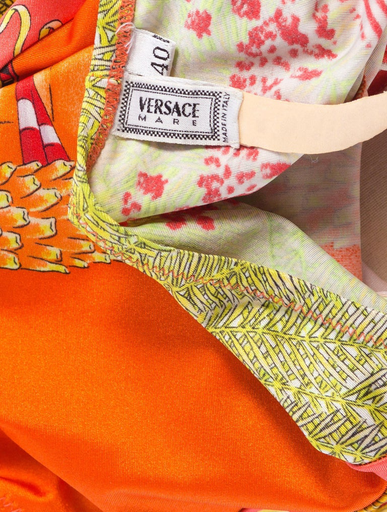 1990s Gianni Versace Miami Pin Up Swimsuit
