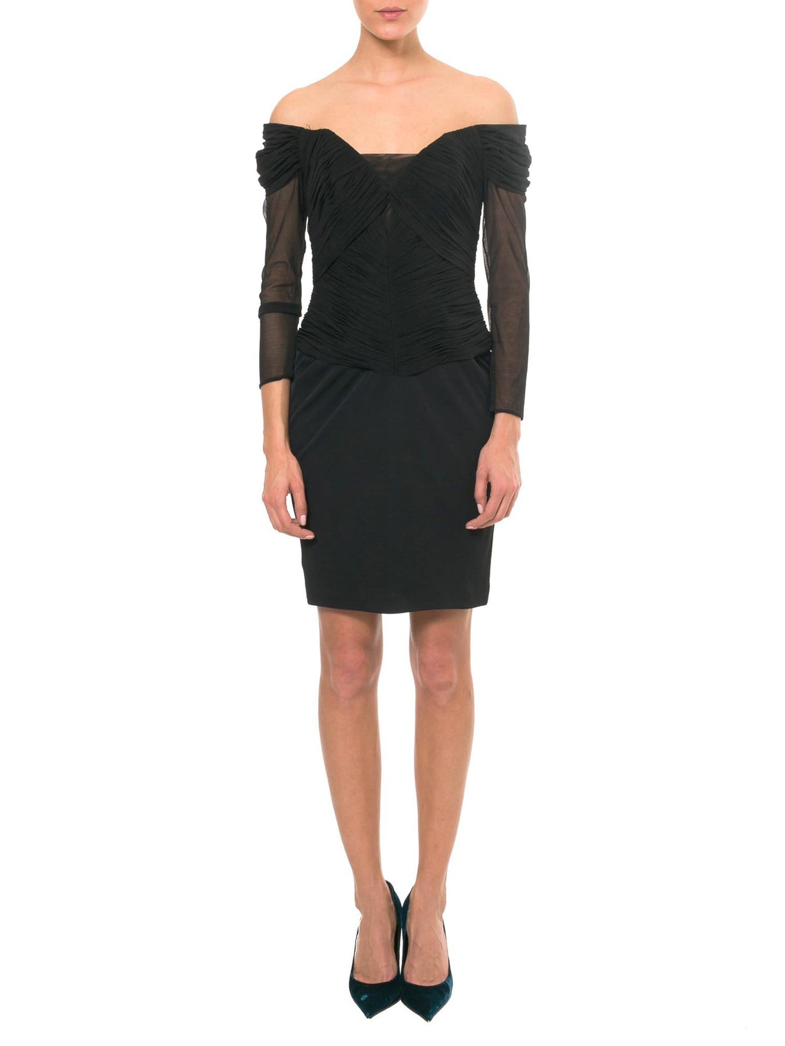 Vicky Tiel Hand Ruched Cocktail Dress