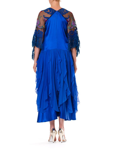 2000S Silk Boho With 1920S Lace Sleeves