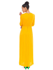 Sweet And Vibrant Orange Malcolm Starr Maxi Dress