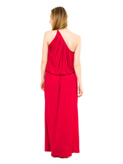 1970 Yves Saint Laurent Raspberry Pink Silk Grecian Dress From YSL