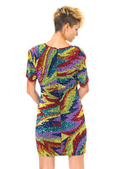 Shimmering Rainbow Cocktail Dress