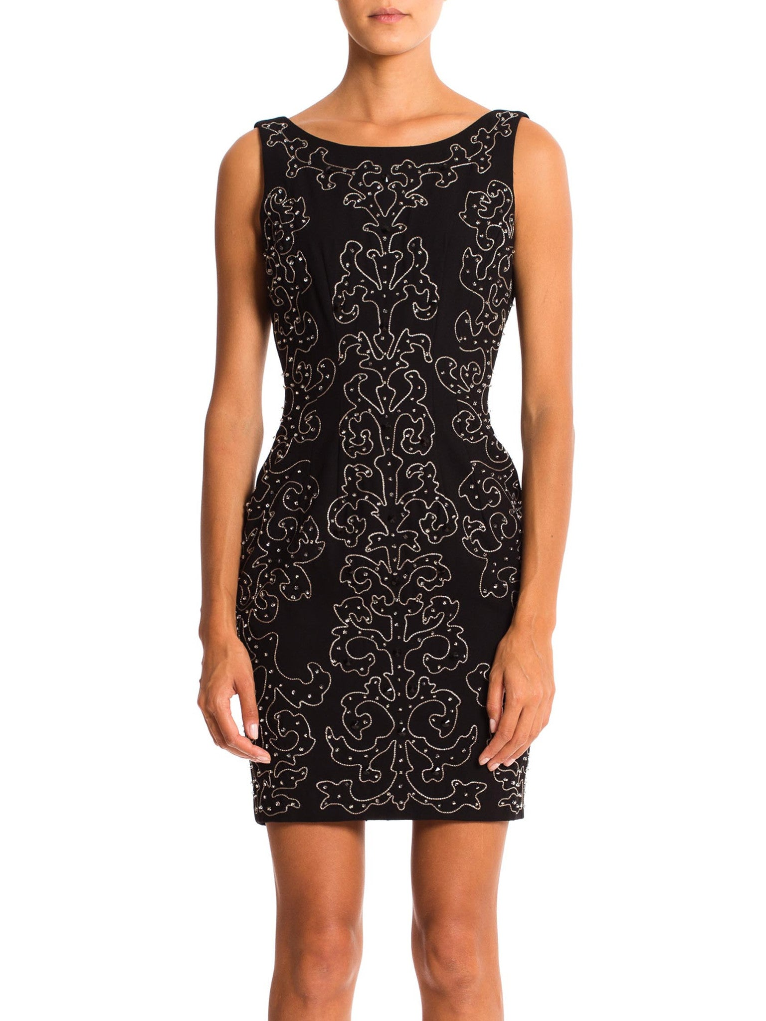 58ba3b999c2 1990s Beaded Cocktail Dress from Saks Fifth Ave – MORPHEW