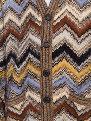 Mens Missoni Soft Knit Cardigan Sweater