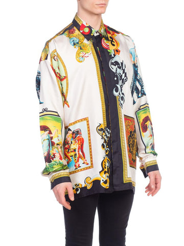 1990s Gianni Versace Supermodel Silk Shirt