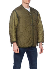 Mens Military Quilted Jacket