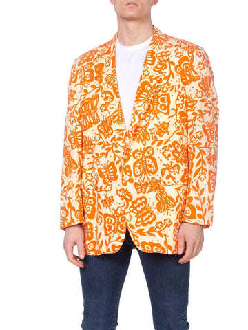 Men's 1960s Hawaiian Tropical Blazer
