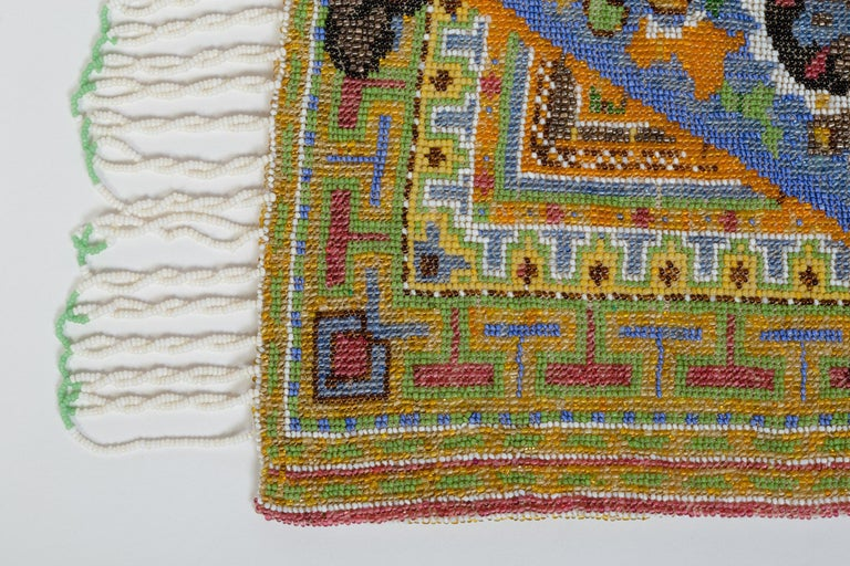1920S Micro Beaded Persian Rug Purse Bag