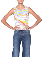 2000S Pucci Multicolored Cotton Tank Top