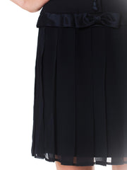 1980s Strapless Pleated Silk Cocktail Dress
