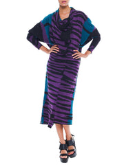 Vintage Junko Koshino Wild Blue And Purple Dress