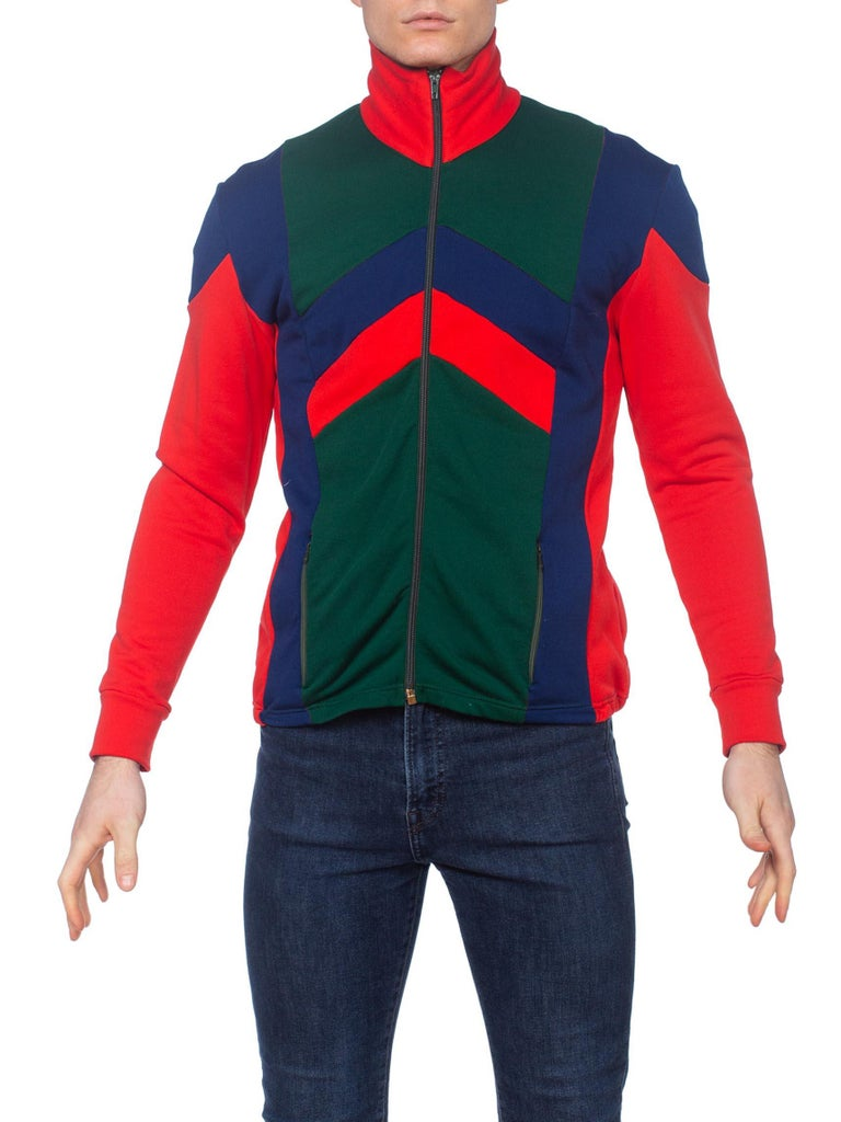 Color Blocked 1980'S Sports Jacket