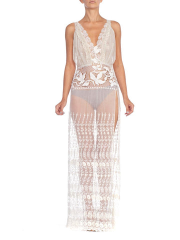 Morphew Collection White Lace Dress