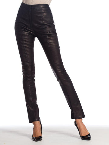 Roberto Cavalli Stretch Leather Pants