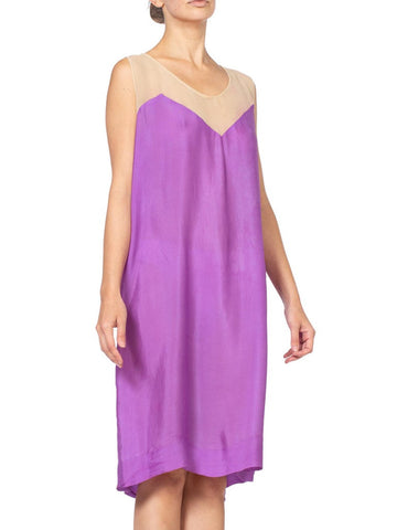 1920's Lilac Lavender Purple Flappers Slip For Lace Dress