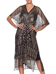 1920'S Morphew Collection Assuit Silver & Net Kaftan