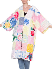Morphew Collection 1940's Chenille Patchwork Beach Robe