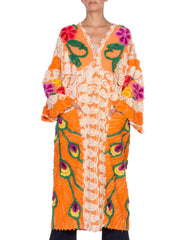 Morphew Collection Cotton Chenille Orange Beach Robe