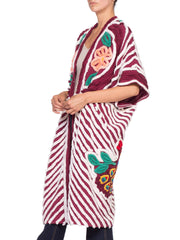 Morphew Collection Cotton Chenille Burgundy Beach Robe