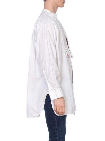 1900S White Cotton Men's Formal Bib Front Shirt By Arrow
