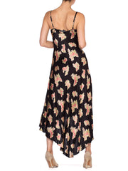 1990's Betsey Johnson High-Low Bias Cut Slip Dress