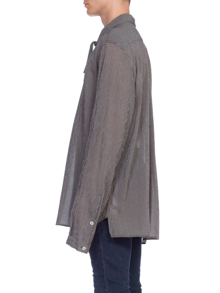 Ann Demeulemeester Oversized Crepe Bow Neck Shirt | New York City | 24hrs- Free Return policy | US Free Shipping | Pre-owned Clothing | Sustainable fashion | Men's Vintage Clothing | Vintage Tops