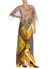 Morphew Collection Vintage Scarf Kaftan Dress
