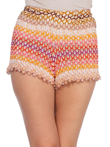 1990's Y2K Missoni Sheer Mini Shorts