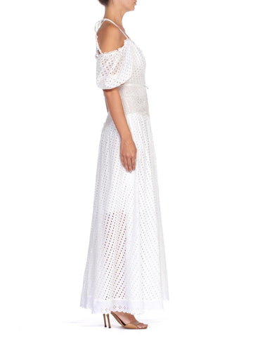 1930'S Morphew Collection Gown Made From Lace With Victorian Details  Dress