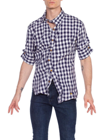 Men's Vivienne Westwood Drunken Button Plaid Shirt