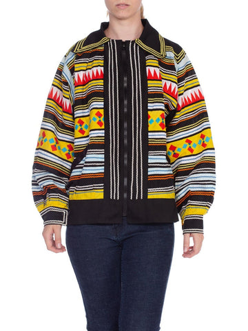 1950's 1960's Seminole Indian Native American Florida Patchwork Jacket