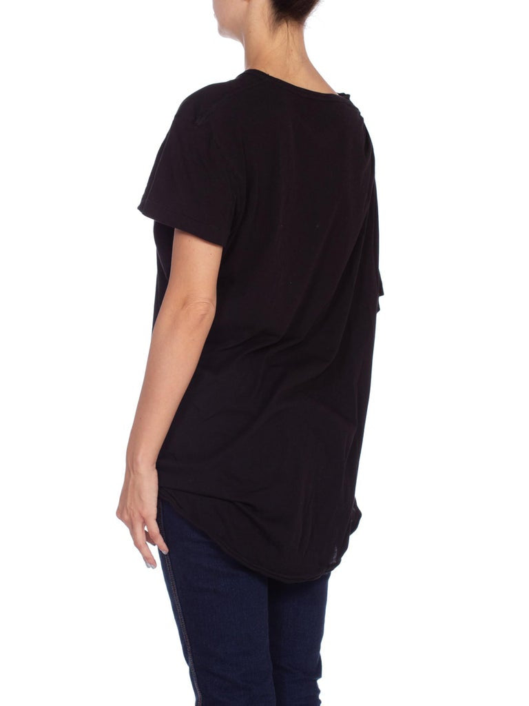 2000S Mens Draped Cotton T-Shirt