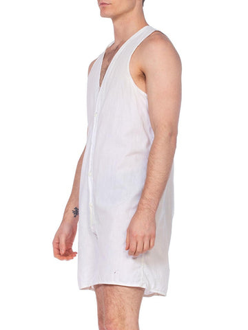 1920's-1930's Mens One Piece Cotton Union Suit Underwear