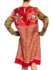 Morphew Collection Tunic Dress Made From Vintage Equestrian Scarves