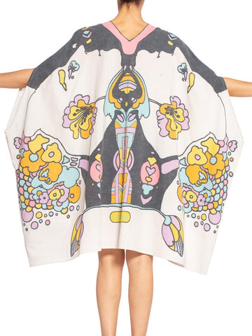 Morphew Collection Psychedelic Cotton Peter Max Printed Kaftan