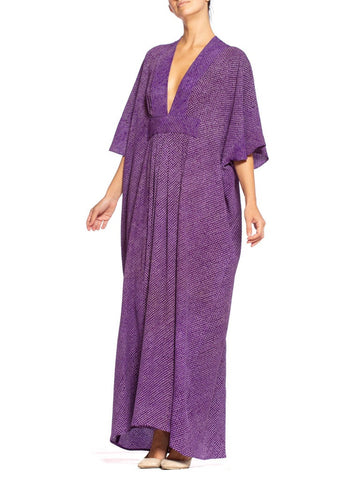 Morphew Collection Kaftan Made From Hand-Dyed Japanese Silk Shibori