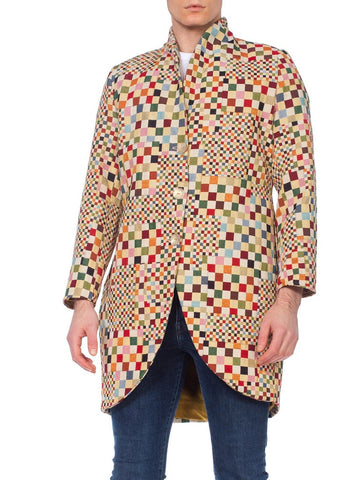 Mens 1990's OP-Art Colorful Blazer